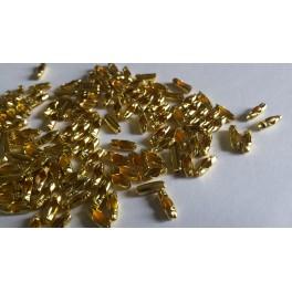 Fermoirs dorés  Ø2.4mm  X50