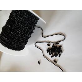 Rouleau chaine boule 2.4mm noire 50M Pure Black