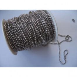 Rouleau chaine boule  3,2mm 50M acier inox